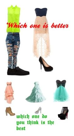 """""""which one do you like best"""" by sydnik13 ❤ liked on Polyvore featuring Ann Demeulemeester, GUESS, Jigsaw, Christian Louboutin, Forever Unique and Quiz"""
