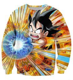 Dragon Ball Cute Goku Kid Kamehameha Awesome Trending Design Sweatshirt #Dragon Ball #Cute Goku Kid #Kamehameha #Awesome #Trending #Design #Sweatshirt