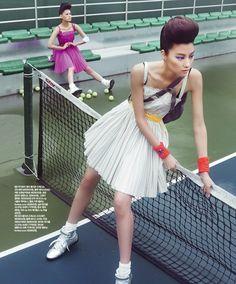 Tennis fashion editorial
