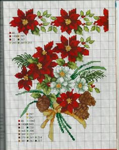 ru / Foto N. A Christmas Story, Christmas Cross, Cross Stitch Charts, Cross Stitch Patterns, Cross Stitching, Cross Stitch Embroidery, Cross Stitch Flowers, Needlework, Christmas Decorations
