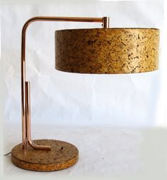 Kurt Versen Cork and Copper American Art Deco Table Lamp | From a unique collection of antique and modern table lamps at http://www.1stdibs.com/lighting/table-lamps/