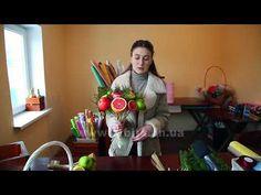 Їстівний букет з фруктів – гарна альтернатива живим квітам - YouTube