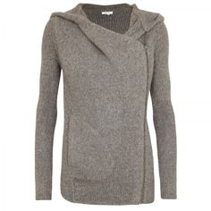 Asymmetrical hooded sweater. Alpaca blend, by Helmut Lang, so way out of my price range... but so cute!