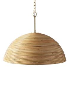 Beautifully crafted of bamboo, this pendant lets artistry and simplicity shine. A slender brass rod completes the look and provides a touch of chic contrast. Home Lighting, Kitchen Lighting, Pendant Lighting, Lighting Ideas, Capiz Shell Chandelier, Chandeliers, Miller Homes, House Colors, Light Fixtures