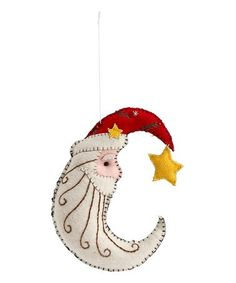 Another great find on #zulily! Stitched Felt Santa Moon Ornament #zulilyfinds