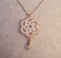 Tatted romantic pendant by TataniaRosa