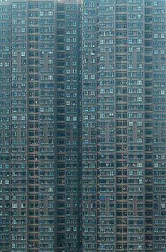 """Hong Kong high-rise residential building by World Press Photo Award-winning German photographer Michael Wolf, from his series """"Architecture of Density"""" Futuristic Architecture, Amazing Architecture, Architecture Design, Building Architecture, Hong Kong Architecture, Hong Kong Building, Michael Wolf, Foto Picture, Rare Historical Photos"""