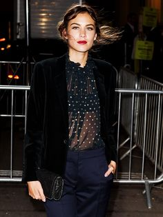 Alexa Chung attending The London 2014 Stella McCartney Green Carpet Collection during London.