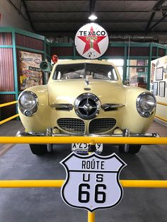 The Arizona Route 66 Museum is located upstairs in Kingman, Arizona's Historic Powerhouse, the very building that lit the way for the earliest Route 66 travelers. It opened in May 2001 to depict the historical evolution of travel along Route Old Route 66, Route 66 Road Trip, Historic Route 66, Travel Route, Us Road Trip, Travel Usa, Route 66 Sign, Visit Arizona, Arizona Travel