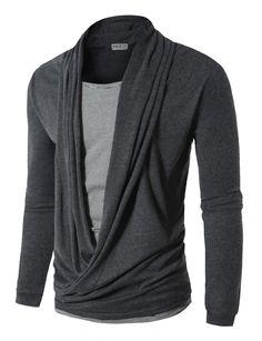 Amazon.com: Doublju Mens Cardigan Style T-shirts: Clothing