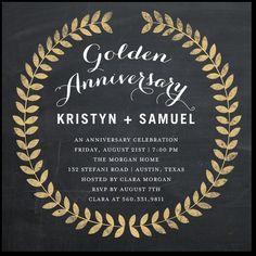 50th Anniversary Invitations.