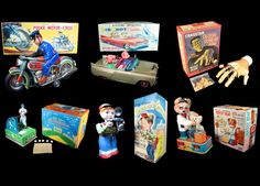Mark Bergin Toys offers a wide range of vintage tin lithographed, battery operated toys.