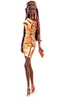 City Shine 8482 Barbie 174 Doll 8212 Bronze Dress