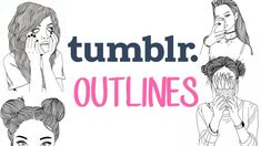 How to make Tumblr Outlines {3 ways}