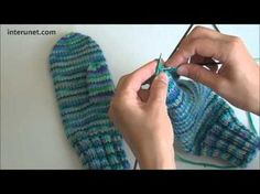 ▶ How to knit mittens - video tutorial with detailed instructions - YouTube