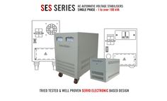 With ratings from 1 to 100 kVA, SES AC single phase Voltage Stabilisers continuously monitor their incoming supply voltage. Should this voltage rise or fall the Stabilisers will automatically control the output to ensure that the voltage reaching connected load equipment always remains constant at a required pre-set voltage. To learn more please check-out the series listings at http://www.Ashleyedison.com/Single-Phase-Voltage-Stabilizers.htm
