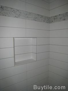 Long rectangle tiles stacked Bathroom Wall Pattern Tile Ideas