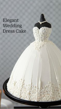 Wedding Dress Cake, Elegant Wedding Dress, Wedding Dresses, Gorgeous Cakes, Pretty Cakes, Amazing Wedding Cakes, Amazing Cakes, Cake Decorating Piping, Wedding Cake Cookies