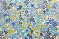 Liberty tana lawn printed in Japan - Margaret Annie - Blue mix