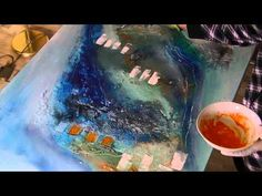 Acryl und Kleister, lang, acrylic and wallpaper paste, long version - YouTube