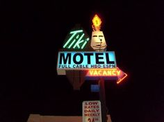 Awesome tiki motel sign in Tucson