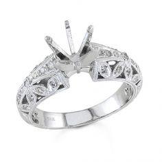 BF1371 - #23438  18kwhite,Diamond ring, 0.39ct round