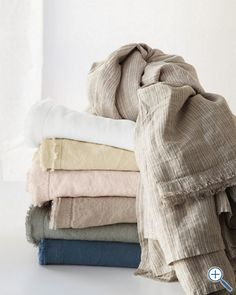 Eileen Fisher Washed Linen Bedding. Inspiration - colour pallet.