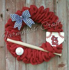 St. Louis Cardinals baseball wreath