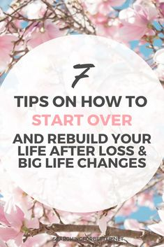 Simple tips for starting over in life. These ideas help to find the motivation to move forward, reset and find yourself again after a big life change. Change Your Mindset, Career Change, Healthy Relationships, Relationship Tips, Self Development, Personal Development, Leadership Development, Meditation, Grief Loss