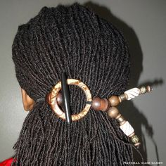 DIY hair tie for when my locs get longer - DIY Beauty Recipes 2019 Sisterlocks, Dreadlock Jewelry, Loc Jewelry, Dreadlock Accessories, Jewlery, Natural Hair Accessories, Natural Hair Styles, Dread Hairstyles, Black Hairstyles