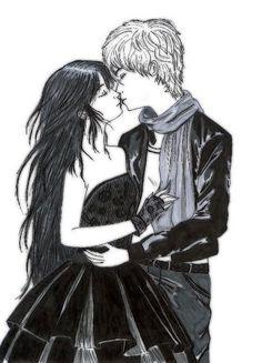 Luce and Daniel Fan Art Fallen Novel, Fallen Series, Lauren Kate, Book Fandoms, Anime, Sketches, Fan Art, Drawings, Books