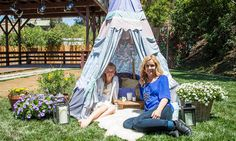 Home & Family - Tips & Products - Andrea Schroder's DIY No Sew Children's Tepee | Hallmark Channel