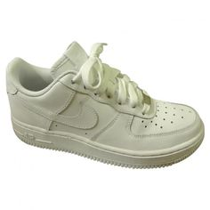AIR FORCE 1 TRAINERS NIKE ($67) ❤ liked on Polyvore featuring shoes, sneakers, nike, white shoes, white trainers, leather trainers, nike sneakers and leather shoes