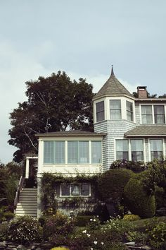 Lovely turret and windows. via James Nord || Highlighted Life