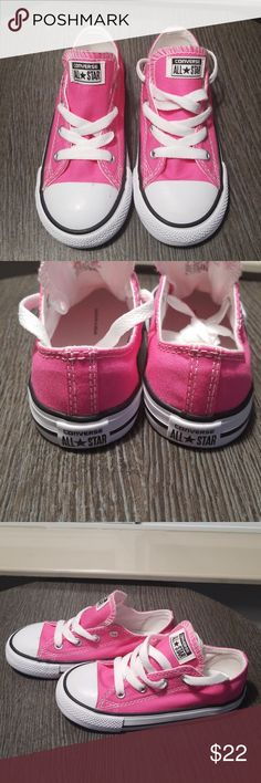 f5e7b124c4 Toddler Size 9 Dark Pink Converse All Star Low Top NWT