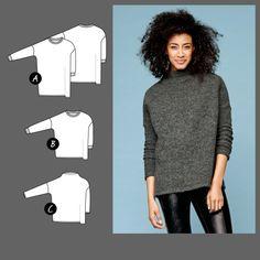 Kjole og genser str. XL - STOFF & STIL