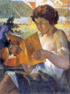 Arturo Gordon Vargas ( Chile, Pin if you like it! Reading Art, Woman Reading, People Reading, Books To Read For Women, World Of Books, Oeuvre D'art, Illustrations, Pictures Of People, Female Art