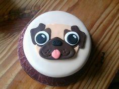 Pug Face Cake by KaelenDarkheart.deviantart.com on @deviantART