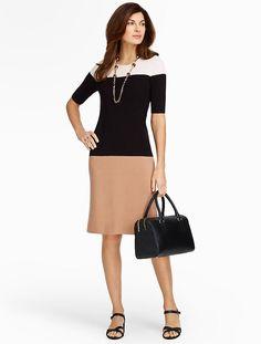 Talbots - Colorblocked Sweater Dress | Dresses |