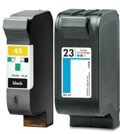 Buy #45 & #23 Ink Cartridge 2PK - 1B/1C for HP at Houseoftoners.com. We offer to save 30-70% on ink and toner cartridges. 100% Satisfaction Guarantee.