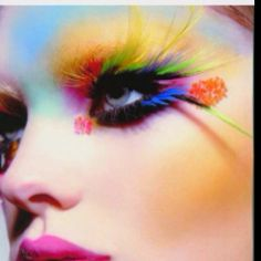 dont u wish your eye lashes were colorful like mine, dont u wish your eye lashes showed gay pride like mine. DONT YAAAA. Just for u sydni!!! :)
