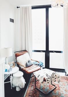 A Chicago Family's No-Holds-Barred High-rise (Design*Sponge) Baby Boys, Boho Home, Chicago, Architectural Features, Baby Boy Nurseries, Coastal Decor, House Colors, Home And Living, Living Spaces