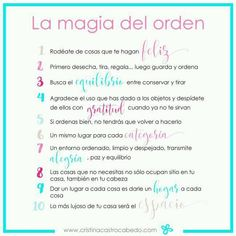 The magic of order: 10 ideas to order your house and your life. - Home Cleaning Coaching, Konmari Method, Life Organization, Home Hacks, Better Life, Getting Organized, Feng Shui, Clean House, Good To Know