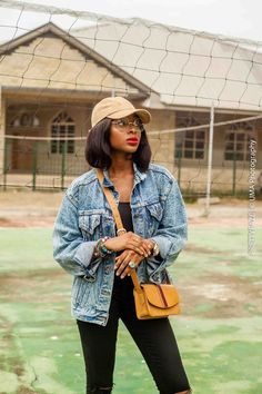 denim, denimfashion, oversized denim,blogger, all black, fashion, photooftheday, outfitoftheday, Lagos, Nigeria