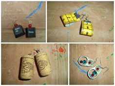 Hi, my name is Blanka and I'm from Romania. My English is very poor, I hope you understand me anyway. I'm making handmade earrings from different recycled materials like bottle caps, corks, plastic bottles, clothes peg, zipper and so on...…