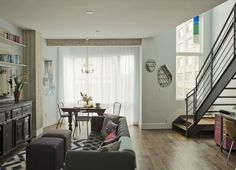 dark greys in white walled brooklyn condo--apartment therapy