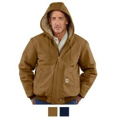 Carhartt Mens Flame Resistant Duck Quilt Lined Jacket FRJ184