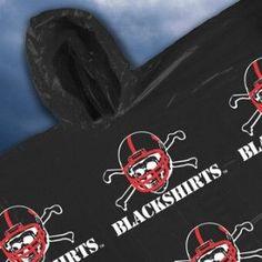 Nebraska Cornhuskers Hooded Poncho - Blackshirts Style