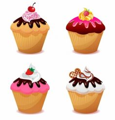 tasty cupcakes free vector free vectors pinterest cupcake rh pinterest com Cupcake Vectors Black and White Cute Cupcake Clip Art
