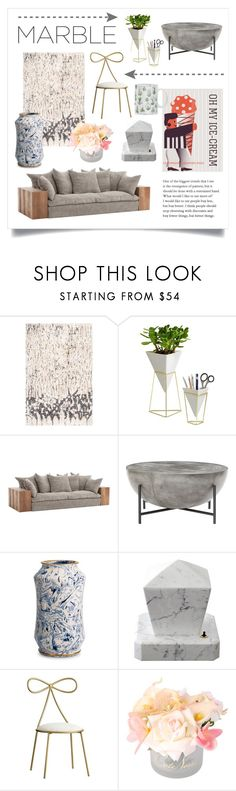 """Marble Decor"" by cstarzforhome ❤ liked on Polyvore featuring interior, interiors, interior design, home, home decor, interior decorating, Umbra, PBteen, DENY Designs and marblehome"